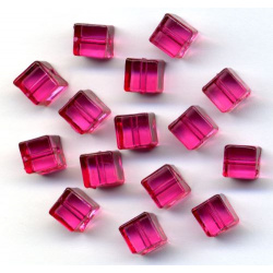 Acrylic Beads Cubes pink