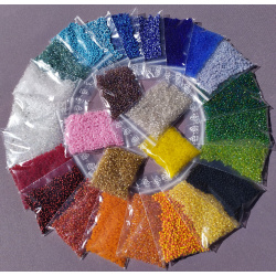 Seed beads set of 27 colors, 30 grams each 2.5mm / 3mm one and two-color special offer
