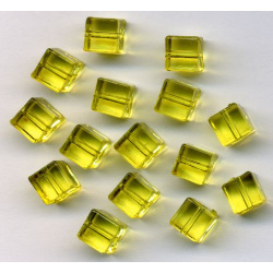 Acrylic Beads Cubes lemon